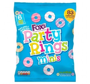 Fox's Party Rings Mini's, Bag (126g) (BEST-BY DATE: 23-01-21)